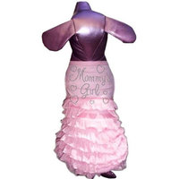 Pet Tease Mommy's Girl Frill Dog Dress, Pink with Pink Frill with Rhinestone Lettering