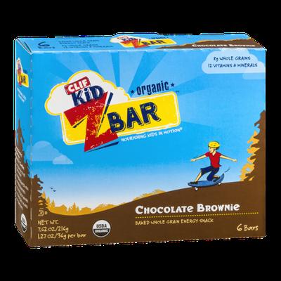 Clif Kid Z Bar Organic Baked Whole Grain Energy Snack Bars Chocolate Brownie - 6 CT