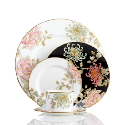 Marchesa By Lenox Marchesa by Lenox Dinnerware, Painted Camellia 5 Piece Place Setting