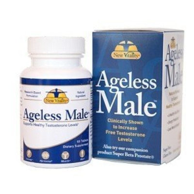 New Vitality Vitality Ageless Male Testosterone Booster Softgels, 60 Counts