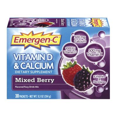 Emergen-C Vitamin D & Calcium, Mixed Berry