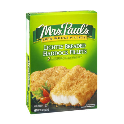 Mrs. Paul's Haddock Fillets Lightly Breaded - 2 CT