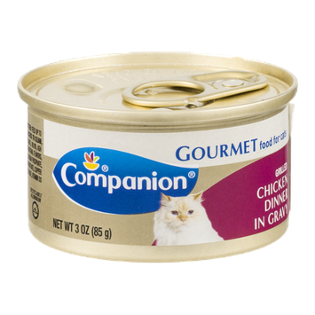 Companion Gourmet Food for Cats Grilled Chicken Dinner in Gravy 3 OZ