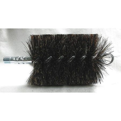 TOUGH GUY 3EDD3 Flue Brush, Dia 3 1/2,1/4 MNPT, Length 8