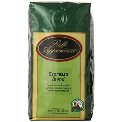 Caffe Appassionato Organic Shade Grown Espresso Roast Whole Bean Coffee, 12-Ounce Bags (Pack of 3)