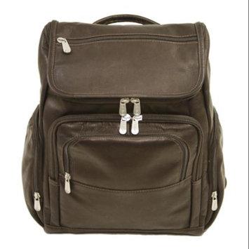 Piel Leather Multi Pocket Laptop Bagpack in Saddle