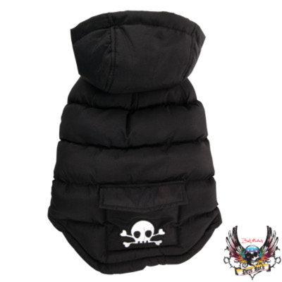 Bret Michaels Pets RockTM Skull Puffer Coat