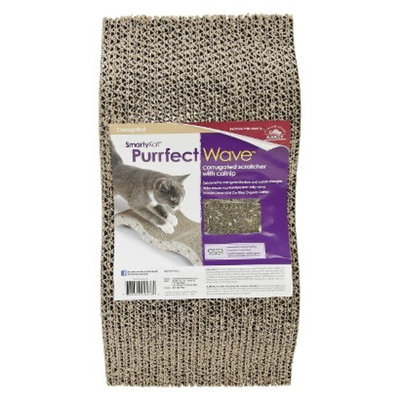 SmartyKat PurrfectWave Corrugated Scratcher with Catnip for Pets