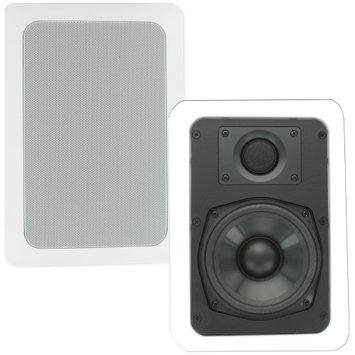 Theater Solutions In Wall Speakers Home Theater Surround Sound Pair CS5W