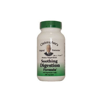 Christopher's Soothing Digestion -- 600 mg - 180 Vegetarian Capsules
