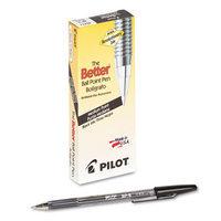 Pilot Better Ballpoint Stick Pen, Black Ink, Medium, Dozen
