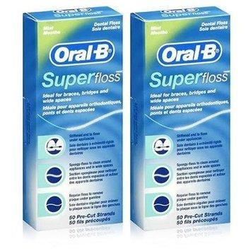 Oral-B SuperFloss Twin Pack 100 Pre-Cut Strands