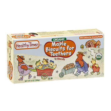 Healthy Times Maple Biscuits for Teethers Organic - 12 CT