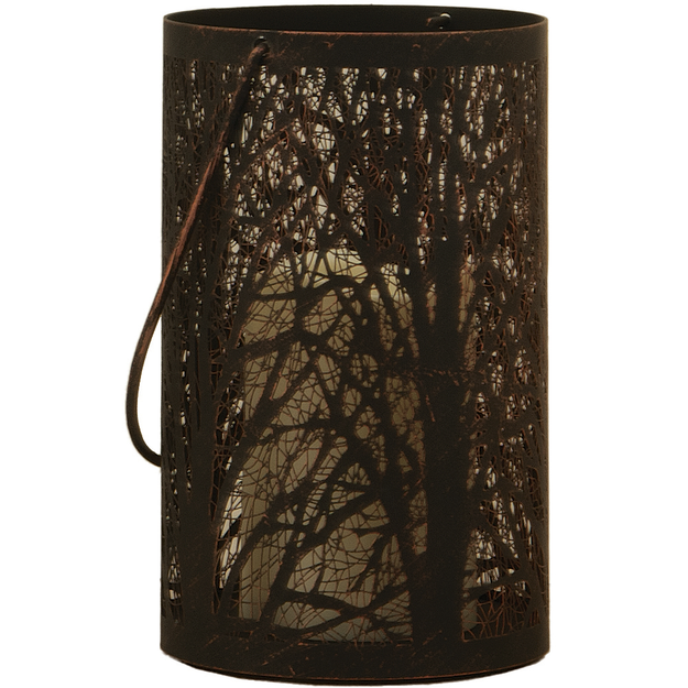 Smart Solar Smart Design Arboretum 8H in. Lantern with LED Candle