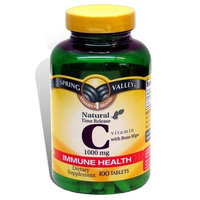 Spring Valley - Vitamin C 1000 mg, Time Release, With Rose Hips, 100 Tablets