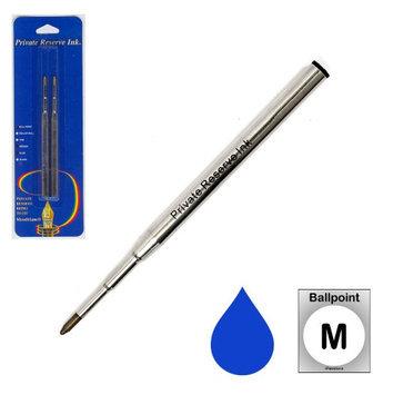 Pk/2 Private Reserve Montblanc Compatible Ballpoint Refills, Blue Medium