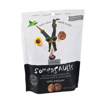 Somersaults Sunflower Seed Snack Salty Pepper
