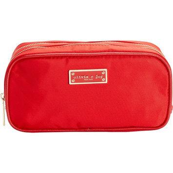 Olivia + Joy Zoom Zoom Duffle Cosmetic Bag Lipstick Red - Olivia + Joy Ladies Cosmetic Bags