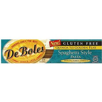 DeBoles Gluten Free Quinoa Plus Golden Flax Spaghetti Style Pasta, 8 oz, (Pack of 12)