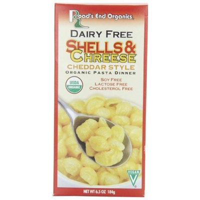 Road's End Organics Shells & Chreese, Organic, 6.5-Ounce Boxes (Pack of 12)