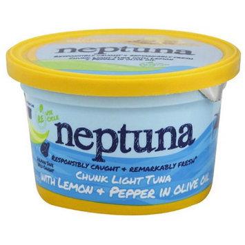 Neptuna Chunk Light Tuna with Lemon & Pepper in Olive Oil, 5.2 oz, (Pack of 12)