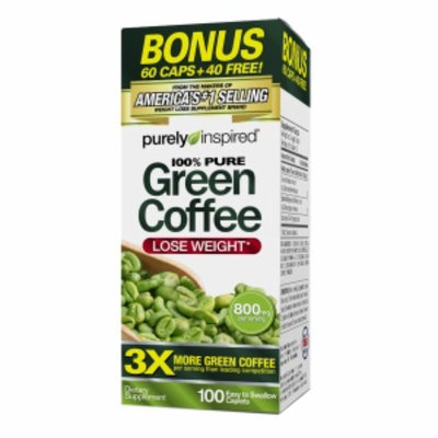 Purely Inspired Green Coffee Bean, Tablets, 100 ea