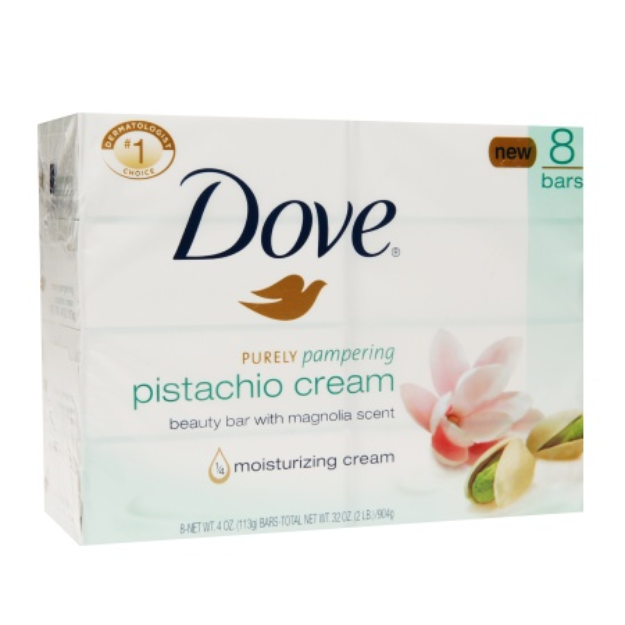 Dove Beauty Dove Purely Pampering Pistachio Cream with Magnolia Beauty Bar 4 oz,