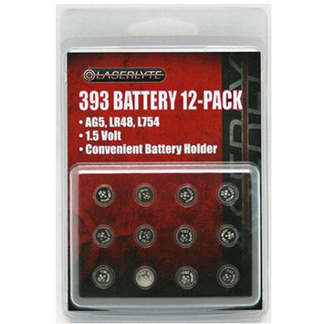 Laserlyte 393 Batteries & Accessories 12 pack BAT-12PK-393