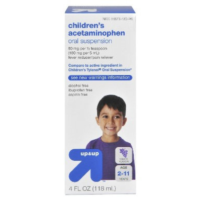up & up Children's Acetaminophen Liquid - Grape (4 oz.)
