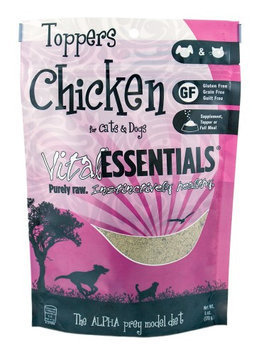 Vital Essentials Freeze Dried Chicken Toppers for Cats and Dogs