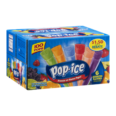 Pop-Ice Freeze at Home Pops - 100 CT