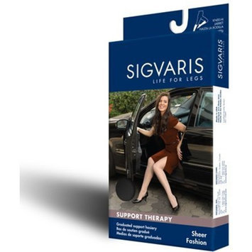 Sigvaris Women's Sheer Fashion 15-20 mmHg Closed Toe Knee High Sock Size: C (10-12), Color: Natural 33
