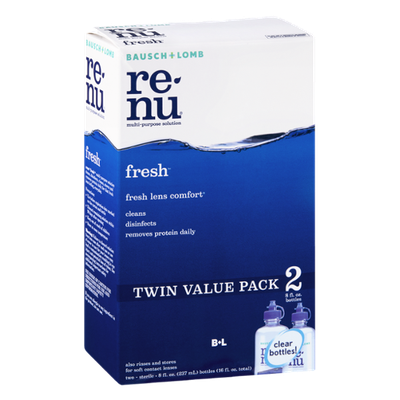 Bausch + Lomb Re-Nu Fresh Multi-Purpose Solution Twin Value Pack - 2 CT