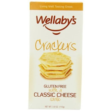 Wellaby's Crackers Classic Cheese, 3.9-Ounce (Pack of 6)