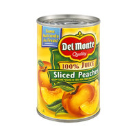 Del Monte 100% Juice Sliced Peaches