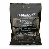 Jakemans Throat and Chest Lozenges Licorice Menthol Case of 12 30 Pack