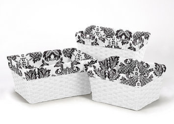 Sweet Jojo Designs 3 Piece Sophia Basket Liner Set