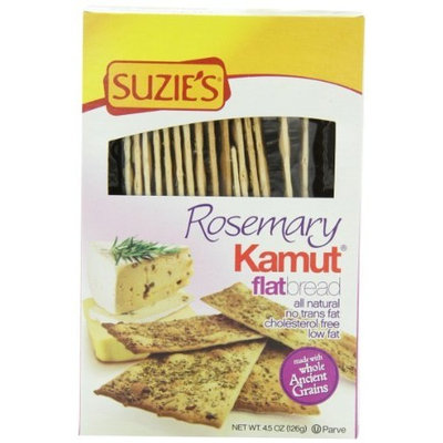 Suzies Suzie's Kamut Flatbreads with Rosemary, 4.5 Ounce Boxes (Pack of 12)