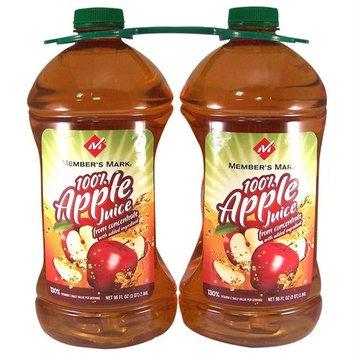 Members Mark Member's Mark100% Apple Juice - 2/96 oz. btls.