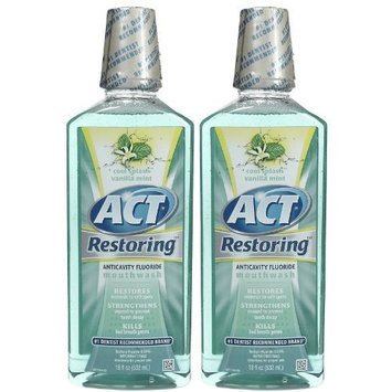 Act Restoring Mouthwash Anticavity Icy Cool Vanilla - 18 Oz