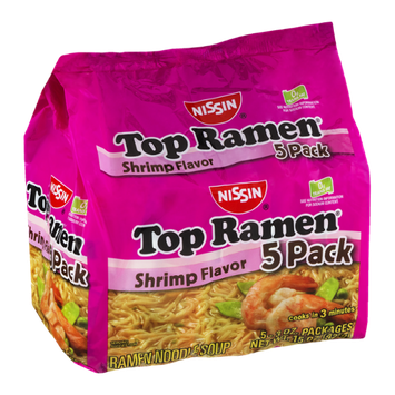 Nissin Top Ramen Shrimp Flavor - 5 CT