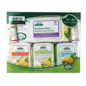 Aleva Naturals Bamboo Baby Wipes Gift Set, 6 ea