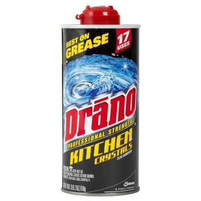 Drano Professional Strength Kitchen Crystals Clog Remover, Case Pack, Six - 18 Ounce Cans (108 Ounces)