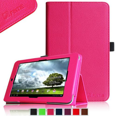 Fintie Folio Leather Case Cover for ASUS MeMO Pad HD 7-inch ME173X Tablet, Magenta