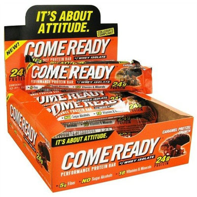 Come Ready Nutrition Crons Come Ready - Performance Protein Bar with Whey Isolate Caramel Pretzel Crunch - 80 Grams CLEARANCE PRICED