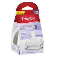 Playtex BreastLike Shape Silicone Nipple, Fast Flow