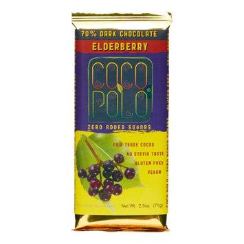 Coco Polo - 70 Dark Chocolate Bar Elderberry - 2.5 oz.