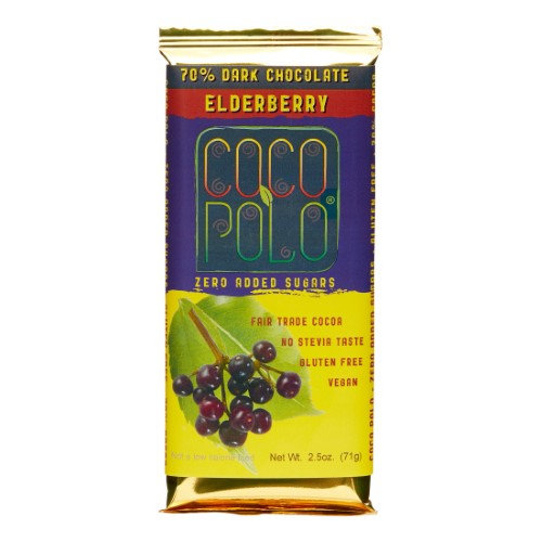 Coco Polo - 70 Dark Chocolate Bar Elderberry - 2.5 oz.