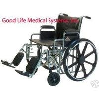 Graham Field Paramount Wheelchair, 24x18, Desk Arm, Elevating Legrest, 1/Ea, GHF5P010530