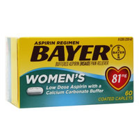 Bayer Women's Low Dose Aspirin with a Calcium Carbonate Buffer 81mg Coated Caplets, 60 ea